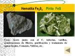 hematita fe 2 0 3 pirita fes