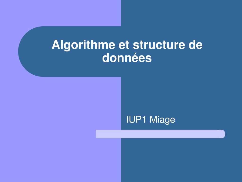 algorithme et structure de donn es l.