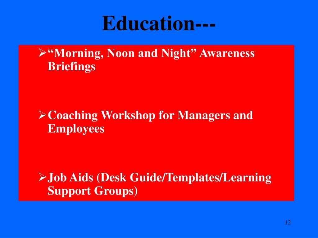 Education---