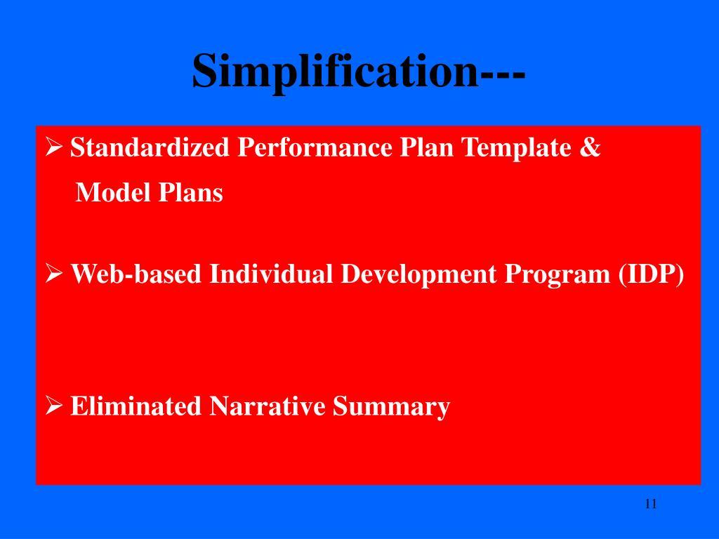 Simplification---