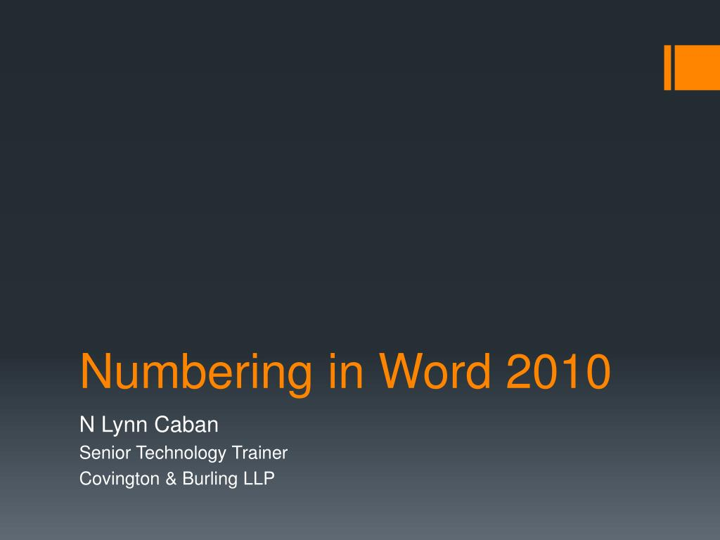 how to continue numbering in powerpoint