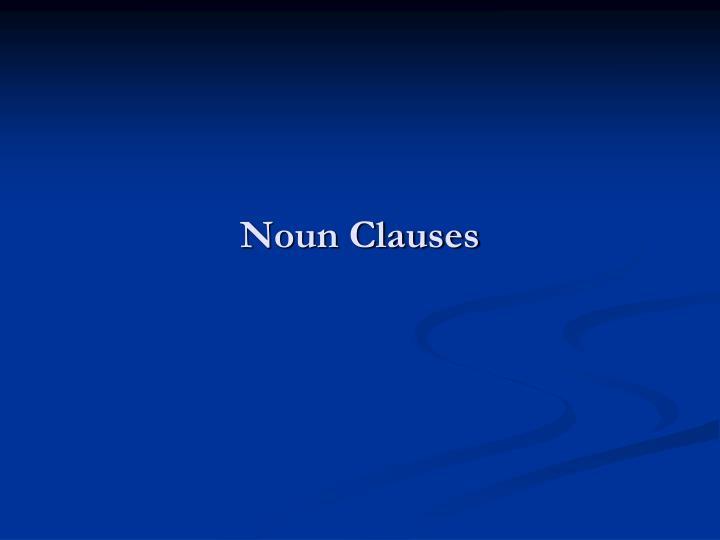 noun clauses n.
