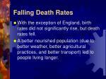 falling death rates
