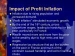 impact of profit inflation
