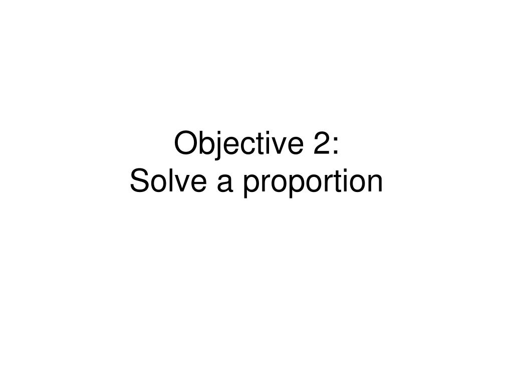Objective 2: