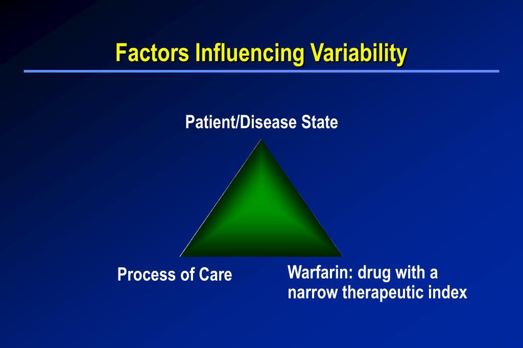 Factors Influencing Variability