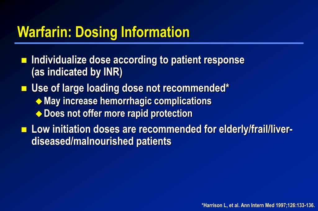 Warfarin: Dosing Information