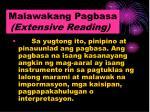 malawakang pagbasa extensive reading
