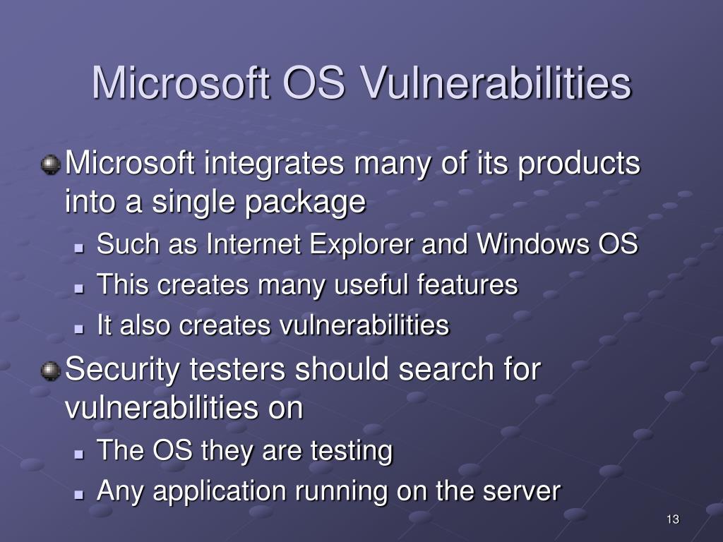 Microsoft OS Vulnerabilities