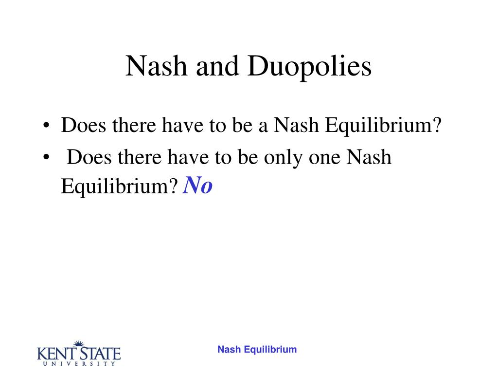 Nash and Duopolies