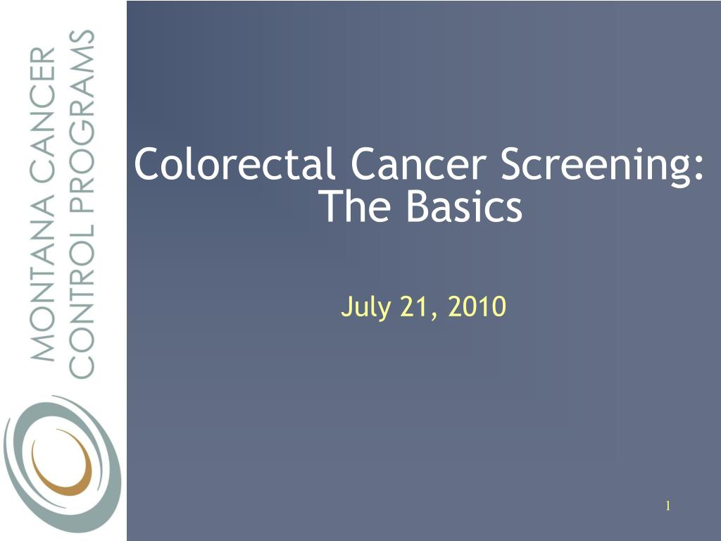 Colorectal Cancer Screening: