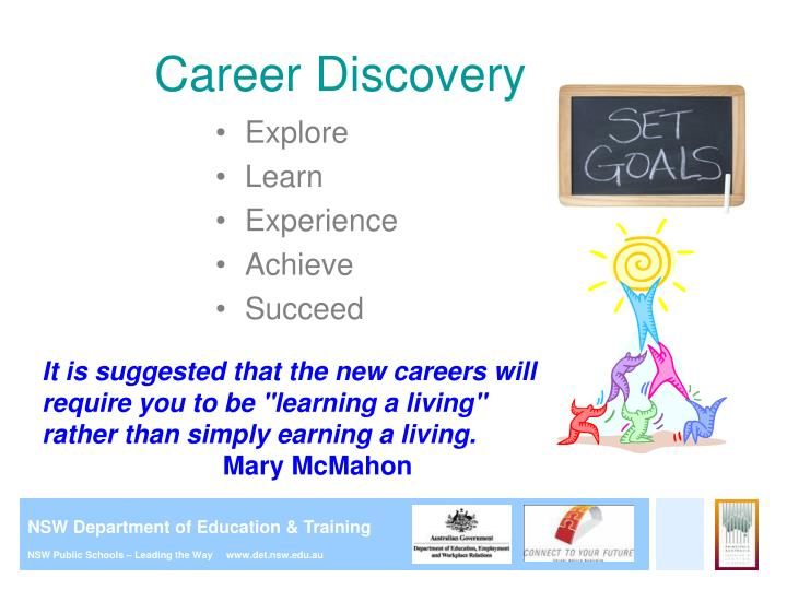 Ppt careers education in primary school presentation for career discovery malvernweather Gallery