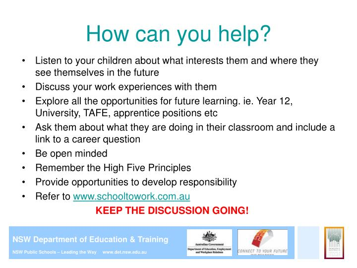 Ppt careers education in primary school presentation for parents how can you help malvernweather Choice Image