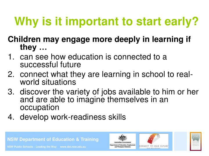 Ppt careers education in primary school presentation for parents why is it important to start early malvernweather Choice Image