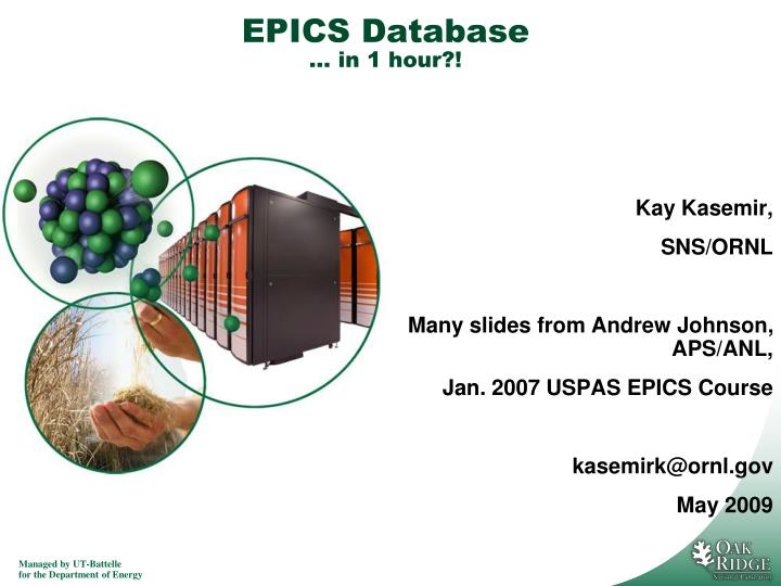 epics database in 1 hour n.