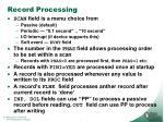 record processing