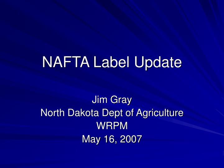 nafta label update n.