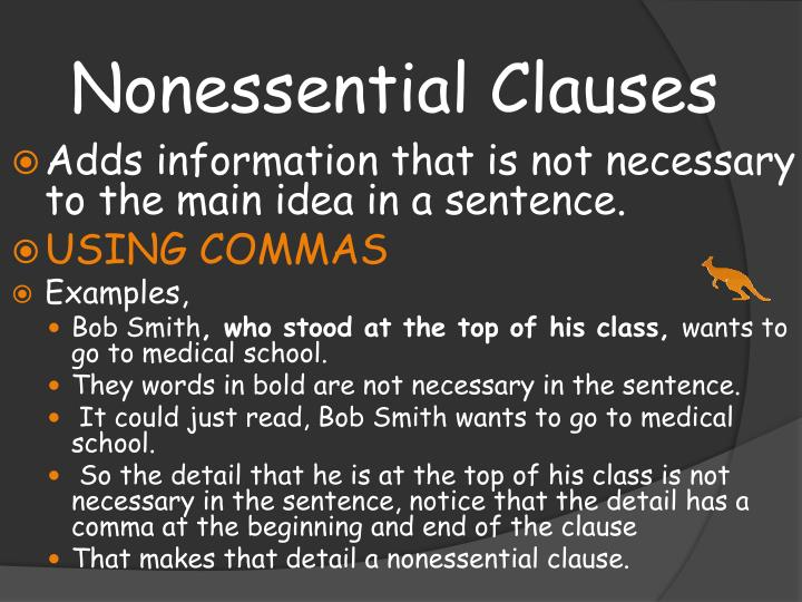 PPT - Essential and Nonessential Clauses and Phrases PowerPoint ...