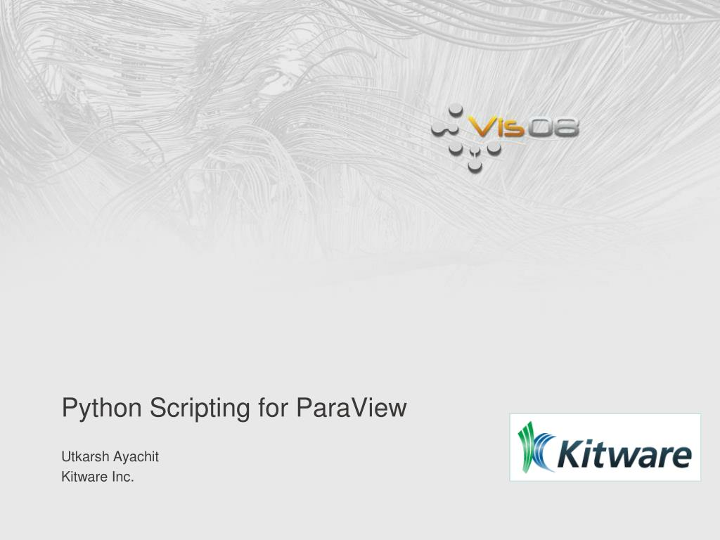 python scripting for paraview l.