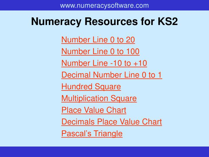 numeracy resources for ks2 n.