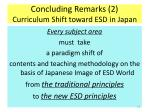 concluding remarks 2 curriculum shift toward esd in japan
