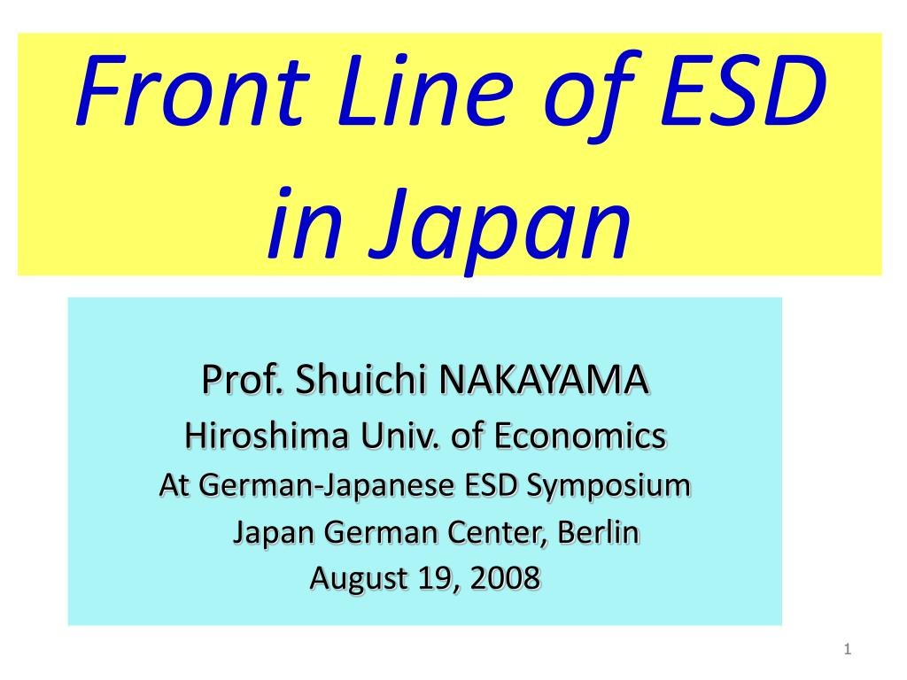 front line of esd in japan l.
