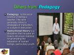 differs from pedagogy