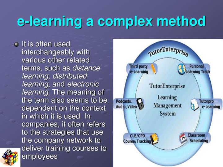 e-learning a complex method