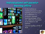 individualized self paced e learning offline
