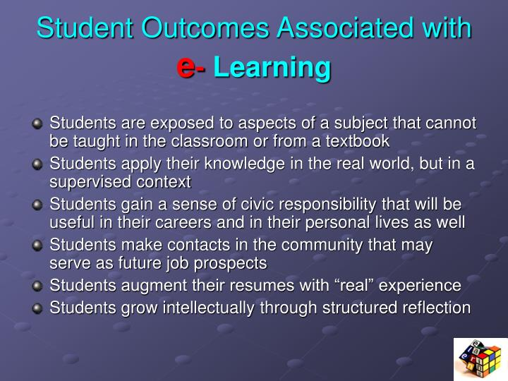 Student Outcomes Associated with