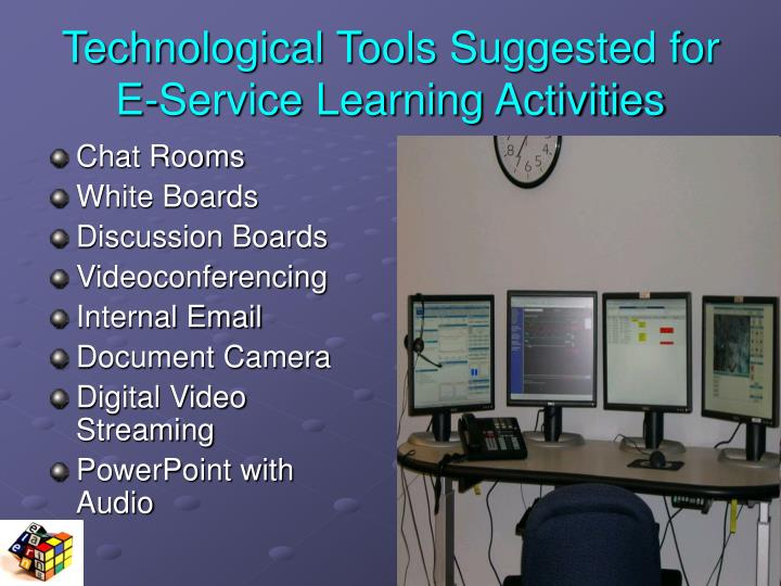 Technological Tools Suggested for E-Service Learning Activities