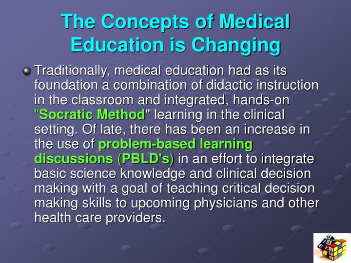 The Concepts of Medical Education is Changing