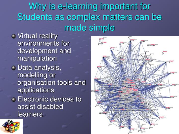 Why is e-learning important for Students as complex matters can be made simple