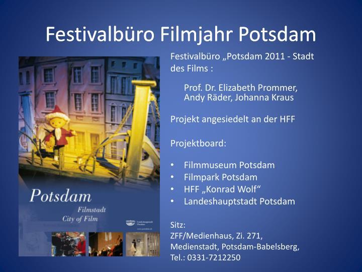 Festivalb ro filmjahr potsdam