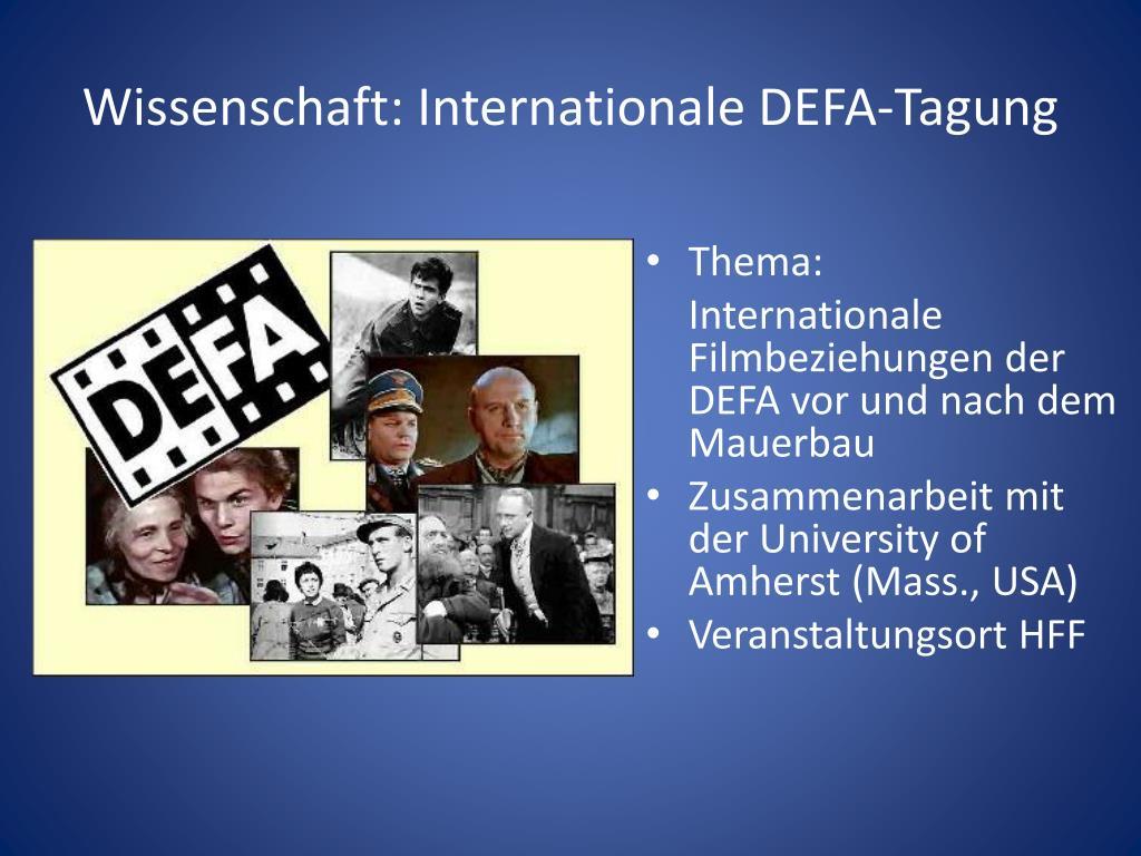 Wissenschaft: Internationale DEFA-Tagung
