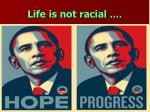 life is not racial