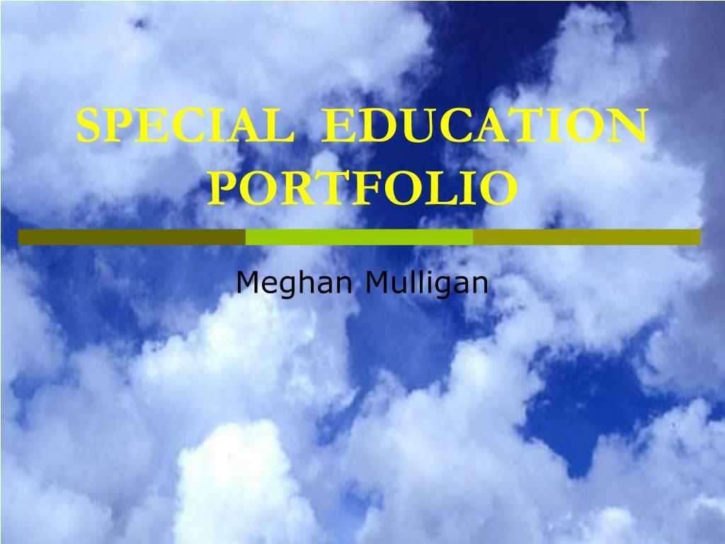 special education portfolio l.