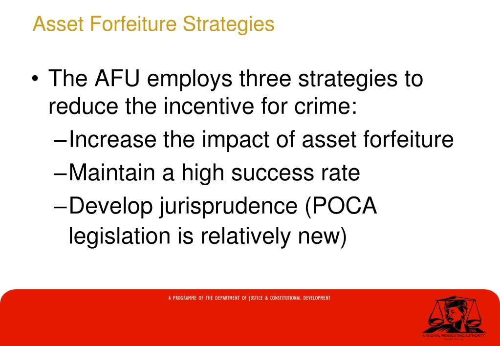 Asset Forfeiture Strategies
