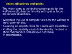 vision objectives and goals