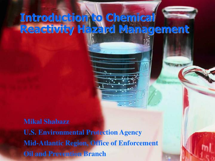 introduction to chemical reactivity hazard management n.