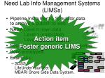 need lab info management systems limss12
