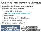 unlocking peer reviewed literature
