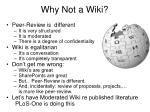 why not a wiki