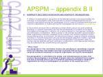 apspm appendix b ii