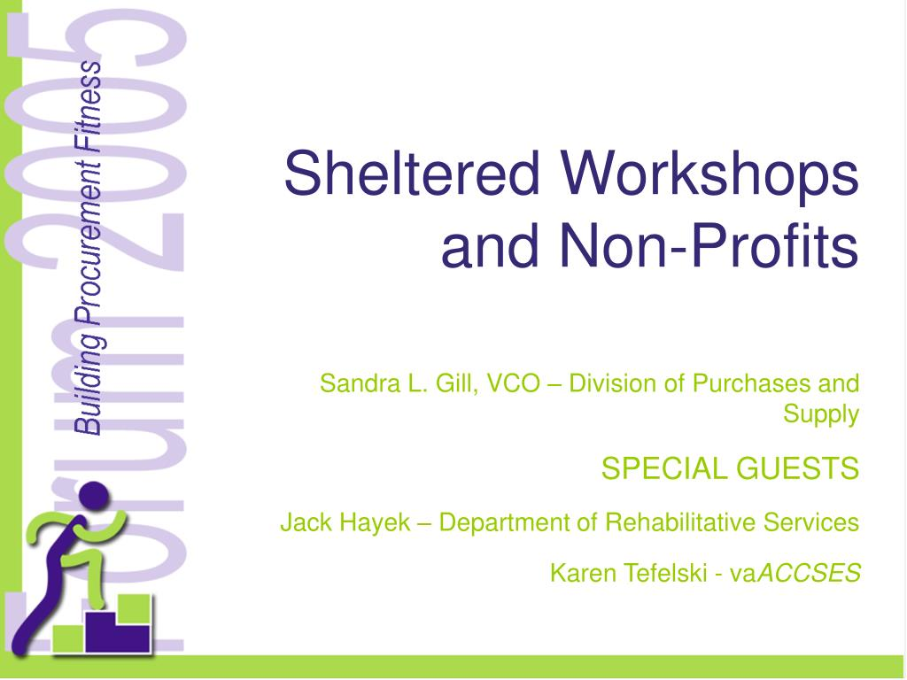 sheltered workshops and non profits l.
