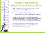 virginia department of rehabilitative services drs