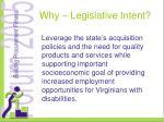 why legislative intent