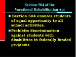 section 504 of the vocational rehabilitation act12