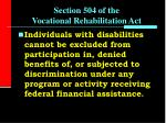section 504 of the vocational rehabilitation act13