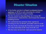 disaster situation
